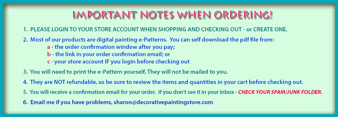 Important Notes About Your Order