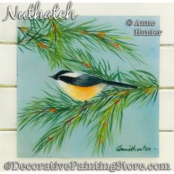 Nuthatch Painting Pattern PDF Download - Anne Hunter