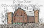Abandoned Barn Pattern by Alise Duerr - PDF DOWNLOAD
