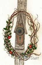 Antique Door Knob & Wreath Colored Pencil PDF DOWNLOAD