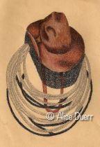 Cowboy Hat & Rope Colored Pencil PDF DOWNLOAD