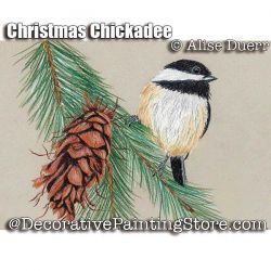 Christmas Chickadee Colored Pencil ePattern - Alise Duerr - PDF DOWNLOAD