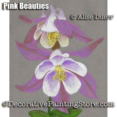 Pink Beauties Colored Pencil ePattern - Alise Duerr - PDF DOWNLOAD