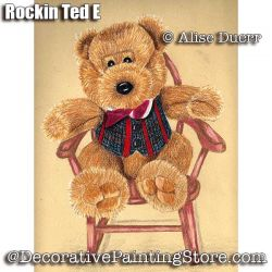 Rockin Ted E Colored Pencil ePattern - Alise Duerr - PDF DOWNLOAD