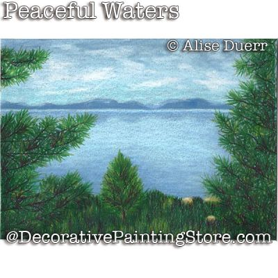 Peaceful Waters Colored Pencil - Alise Duerr - PDF DOWNLOAD