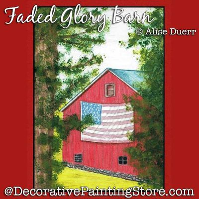 Faded Glory Barn Colored Pencil/Acrylic - Alise Duerr - PDF DOWNLOAD
