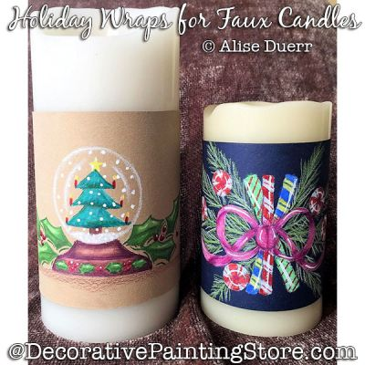 Holiday Wraps for Faux Candles Colored Pencil - Alise Duerr - PDF DOWNLOAD