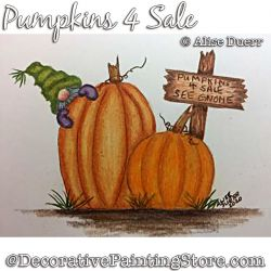 Pumpkins 4 Sale Colored Pencil - Alise Duerr - PDF DOWNLOAD