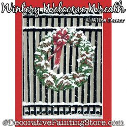 Wintery Welcome Wreath (Pencil / Acrylic) PDF Download Painting Pattern - Alise Duerr