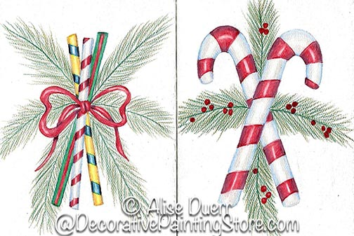 Holiday Candy Greeting Cards PDF DOWNLOAD
