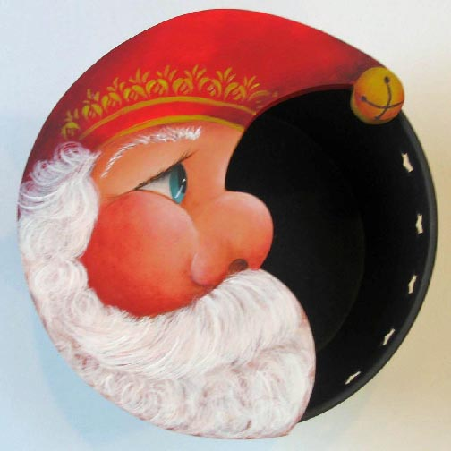 Jingle Star Santa Pail Pattern - Anne Hunter - PDF DOWNLOAD