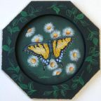 Yellow Swallowtail Butterfly Plate e-Pattern - Anne Hunter - PDF DOWNLOAD