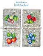 Berries Coasters Pattern - Anne Hunter - PDF DOWNLOAD