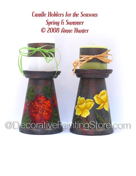 Candle Holdlers for the Seasons Spring & Summer Pattern - Anne Hunter - PDF DOWNLOAD