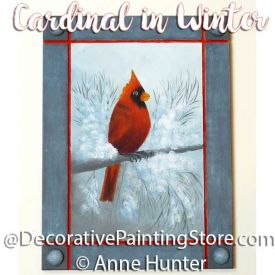 Cardinal in Winter Pattern - Anne Hunter - PDF DOWNLOAD