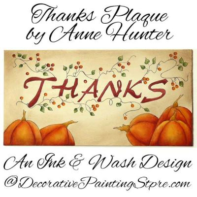 Thanks Plaque ePattern - Anne Hunter - PDF DOWNLOAD