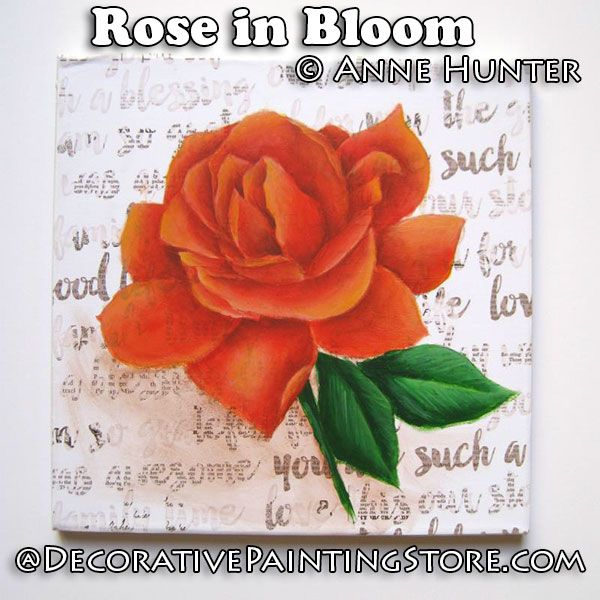 Rose in Bloom ePattern - Anne Hunter - PDF DOWNLOAD
