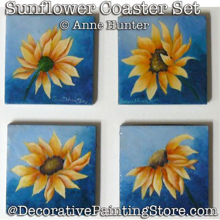 Sunflower Coasters ePattern Download - Anne Hunter
