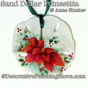 Sand Dollar Poinsettia Ornament ePattern Download - Anne Hunter