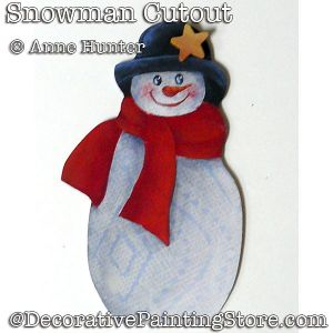 Snowman Cutout Ornament ePattern Download - Anne Hunter