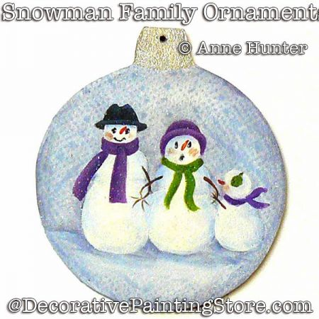 Snowman Family Ornament ePattern Download - Anne Hunter