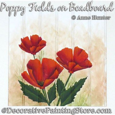 Poppy Fields on Beadboard ePattern Download - Anne Hunter