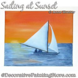 Sailing at Sunset ePattern Download - Anne Hunter
