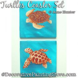 Turtles Coaster Set ePattern Download - Anne Hunter
