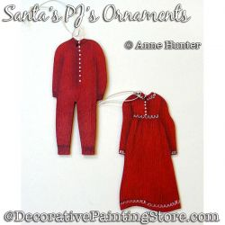 Santas PJs Ornament Painting Pattern PDF Download - Anne Hunter