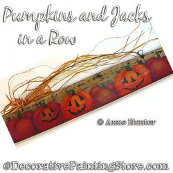Pumpkins and Jacks in a Row ePattern Download - Anne Hunter