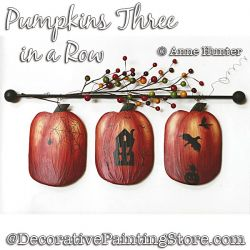 Pumpkins Three in a Row ePattern Download - Anne Hunter