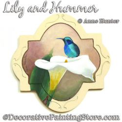 Lily and Hummer Painting Pattern PDF Download - Anne Hunter