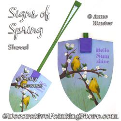 Signs of Spring Shovel (Birds) Painting Pattern PDF Download - Anne Hunter