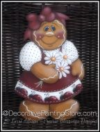 Daisy Gingerbread Girl Pattern by Lorri Allisen - PDF DOWNLOAD