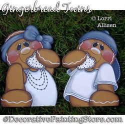 Gingerbread Twins Painting Pattern PDF DOWNLOAD - Lorri Allisen
