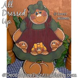 All Dressed Up (Gingerbread) Painting Pattern PDF DOWNLOAD - Lorri Allisen