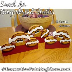 Sweet As Gingerbread Smiles Painting Pattern PDF DOWNLOAD - Lorri Allisen
