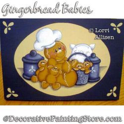 Gingerbread Babies Painting Pattern PDF DOWNLOAD - Lorri Allisen