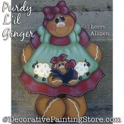Purdy Lil Ginger Painting Pattern PDF DOWNLOAD - Lorri Allisen