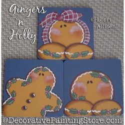 Gingers n Holly Painting Pattern PDF DOWNLOAD - Lorri Allisen