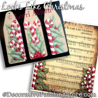 Looks Like Christmas (Peppermint) Painting Pattern PDF DOWNLOAD - Lorri Allisen