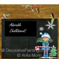 Adorable Chalkboard ePattern - Anita Morin - PDF DOWNLOAD