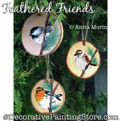 Feathered Friends (Birds) Painting Pattern PDF DOWNLOAD - Anita Morin