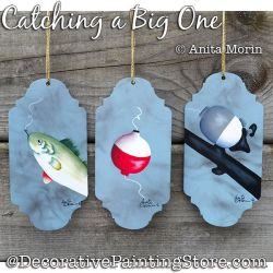 Catching a Big One (Fishing) Painting Pattern PDF DOWNLOAD - Anita Morin