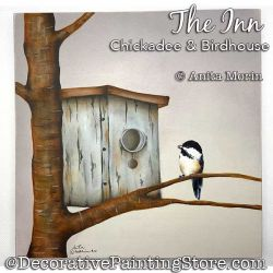 The Inn (Chickadee - Birdhouse) Painting Pattern PDF DOWNLOAD - Anita Morin