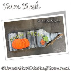 Farm Fresh (Pumpkin) Painting Pattern PDF DOWNLOAD - Anita Morin