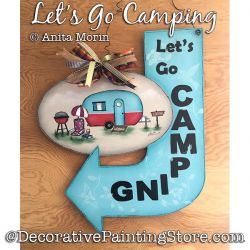 Lets Go Camping (Camper) Painting Pattern PDF DOWNLOAD - Anita Morin