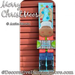 Merry ChristMoose Painting Pattern PDF DOWNLOAD - Anita Morin