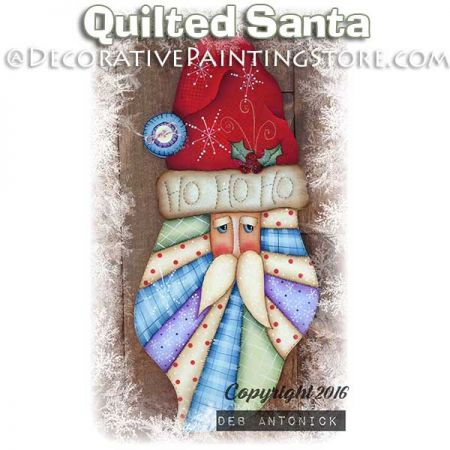 Quilted Santa e-Pattern -Deb Antonick - PDF DOWNLOAD