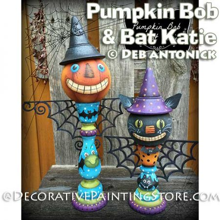 Pumpkin Bob and Bat Katie e-Pattern -Deb Antonick - PDF DOWNLOAD